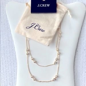 J.Crew Layered Pearl Chain Necklace